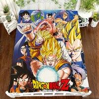 Anime Dragon Ball Z Super Saiyan Son Goku Flat Sheet 3D Bedding Coverlet Cosplay Cartoon Printing Otaku Kawaii otaku Bed sheets