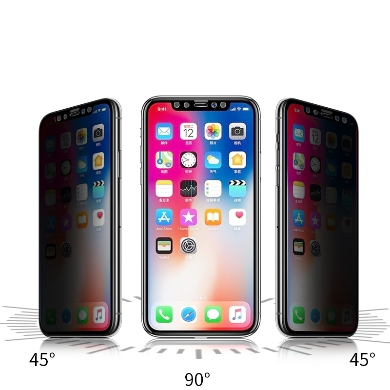 Suntaiho Full Cover Anti-Peeping Tempered Glass for iPhone Xs Max XR X for iPhone 7 8 plus 6s Anti Privacy Screen Protective