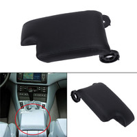 Black Synthetic Leather Center Console Lid Armrest Cover For BMW E46 3 series 1999 2005 320i 325Ci 323i M3 Base Sedan //