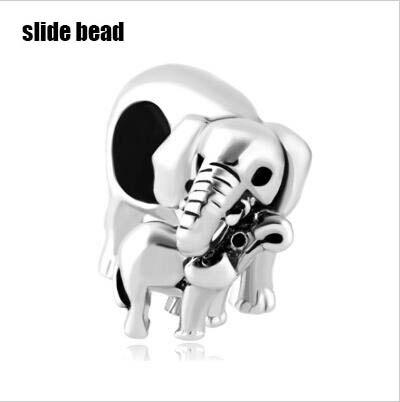 Fit Pandora серебряные браслеты слон Мама Любовь ребенок американская девушка Шарм мальчик из бисера бусы для изготовления ювелирных изделий