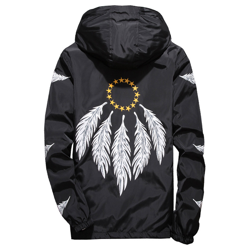 Feather WindJacket WINDBREAKERS Summer Thin Lightweight Jackets Asian Size M-7XL spring jacket men 2019