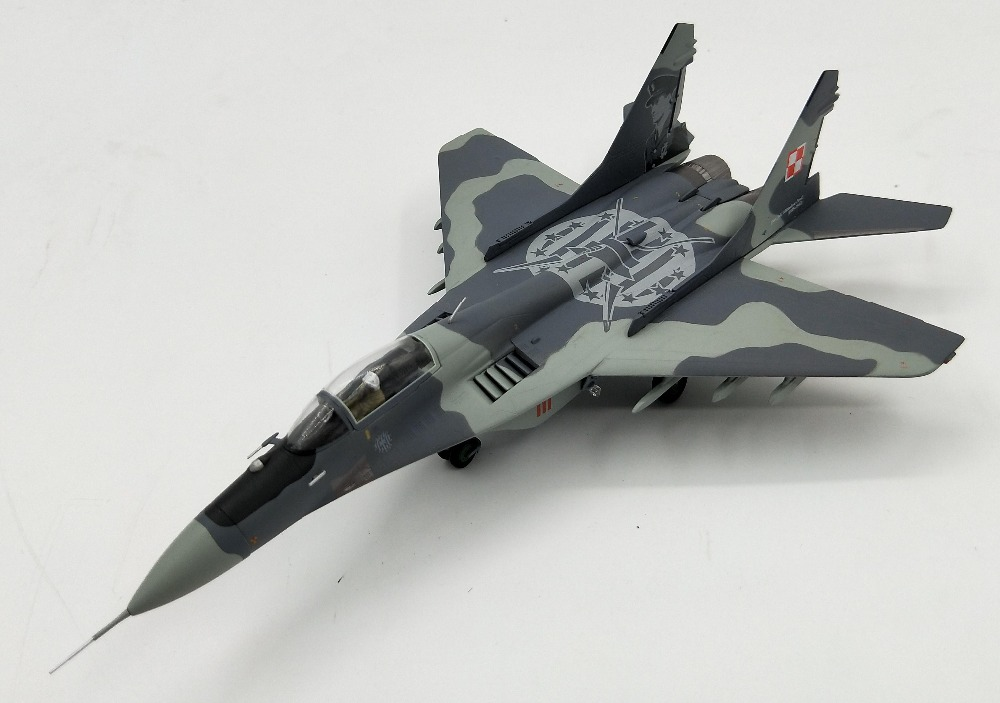 1:72 Poland air force MiG-29A pivot fighter Alloy model Collection model Holiday gift