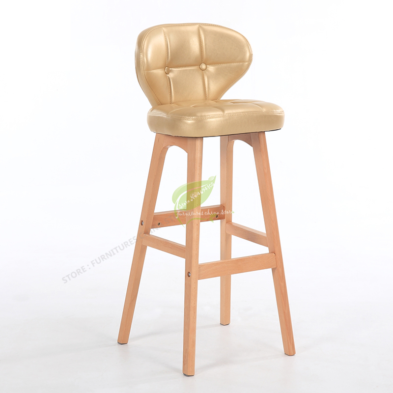 Stool Bar Tabouret De Bar Modern Bar Stool Bar Furniture Make Up Chair Beauty Salon Furniture Solid Wood Modern Simplicity