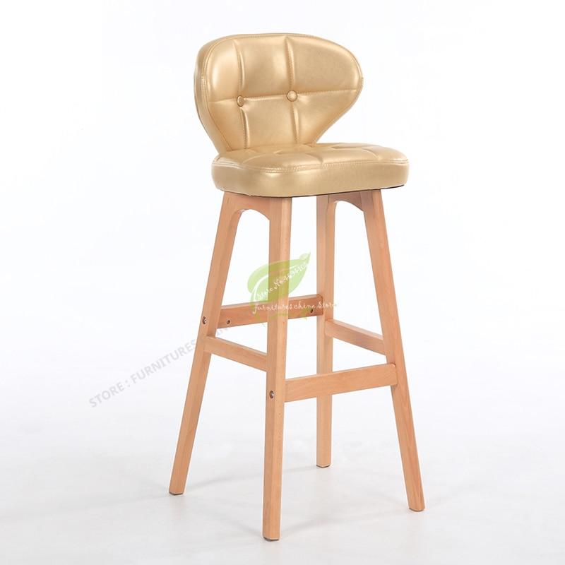 Stool Bar Tabouret De Bar Modern Bar Stool Bar Furniture Make Up Chair Beauty Salon Furniture Solid Wood Modern Simplicity