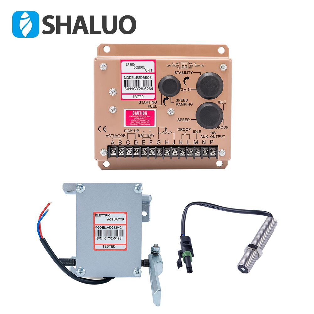 1set Diesel generator Governor Actuator 1PCS ADC120 12V 24V 1PCS ESD5500E speed controlle and 1PCS 3034572