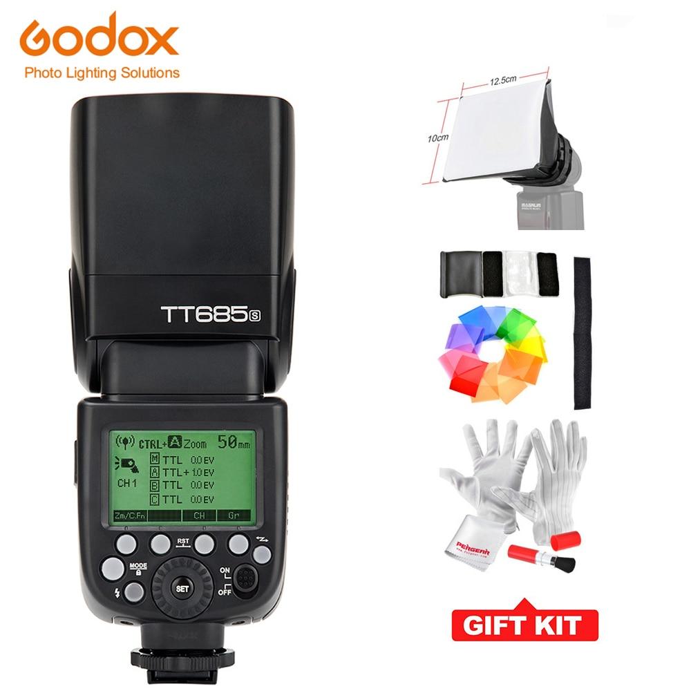 Godox TT685S GN60 ttl фотовспышка Speedlite 230 полный Мощность Авто/ручной масштабирование для sony цифровых зеркальных камер A77II A7RII A7R A58 A99