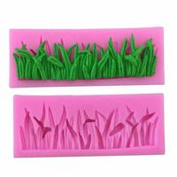Food Grade Grass Shape Liquid Silicone Cake Mould For Fondant Cake Decorating Chocolate Cookie Soap Fimo Polymer Clay Resin 3