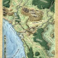 Mapa de magos de la costa en EE. UU. Clásico Retro Decoración en papel Kraft póster mapas inicio carteles para Bar pared pegatina Decoración