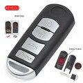 Keyecu дистанционный смарт ключ-брелок чехол Замена 4 кнопки для Mazda 3 6 2014-2018 4 кнопки SKE13D-01