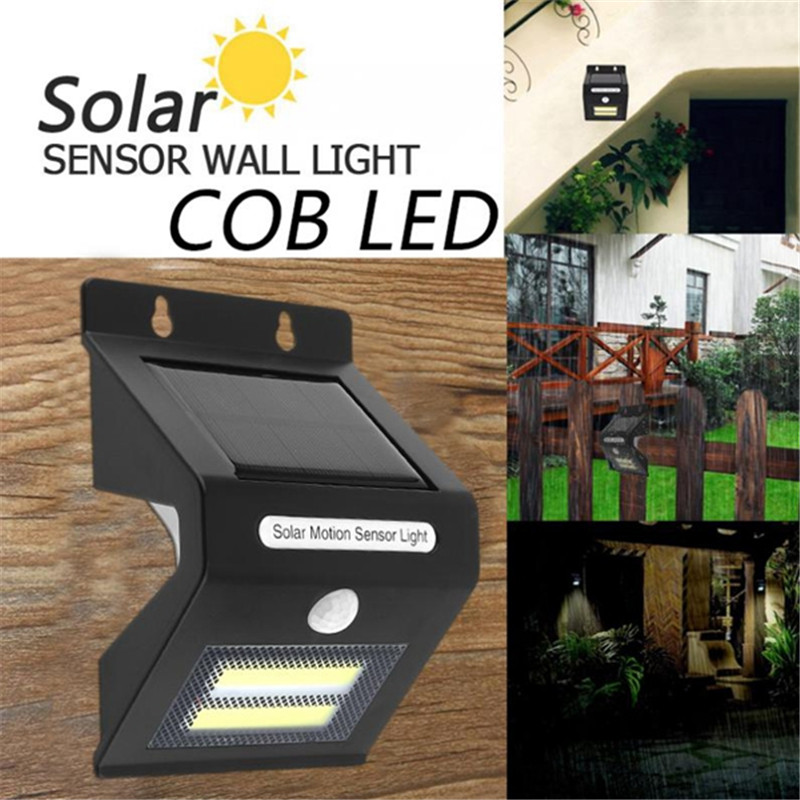 Mising Outdoor Solar Light Waterproof COB Solar LED Light Rechargeable Motion Sensor Wall Light Lamp Security Lamp Decor