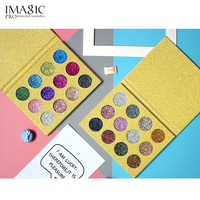 IMAGIC Glitter Make Up Cosmetic Eye Shadow Magnet Palette 12 Color Diamond Glitter Highly Pigmented Eyeshadow