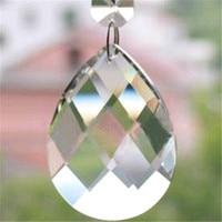 Высокое качество 38 мм, 50 мм миндаля сетки кристалл в форме Освещение висят капли люстра Призма кулон для окна/номер/Свадебный декор