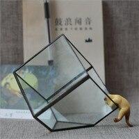 Glass Vase Cubes fleshy glass flower flower box flowerpot home decoration
