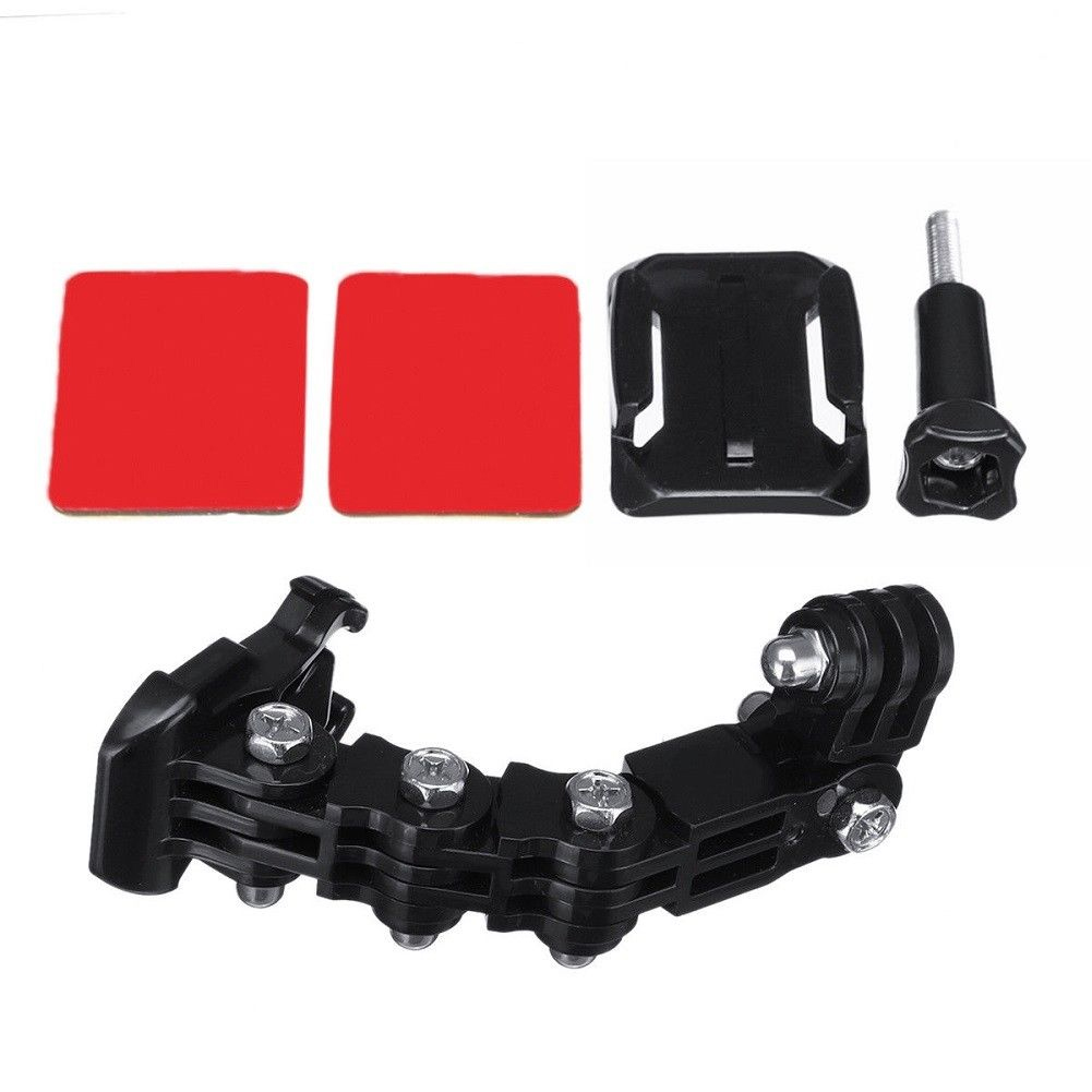 Camera Holder Set Lengthened Motorcycle Lightweight Helmet Chin Mount Adjustable Easy Install Portable Multi Angle For GoPro