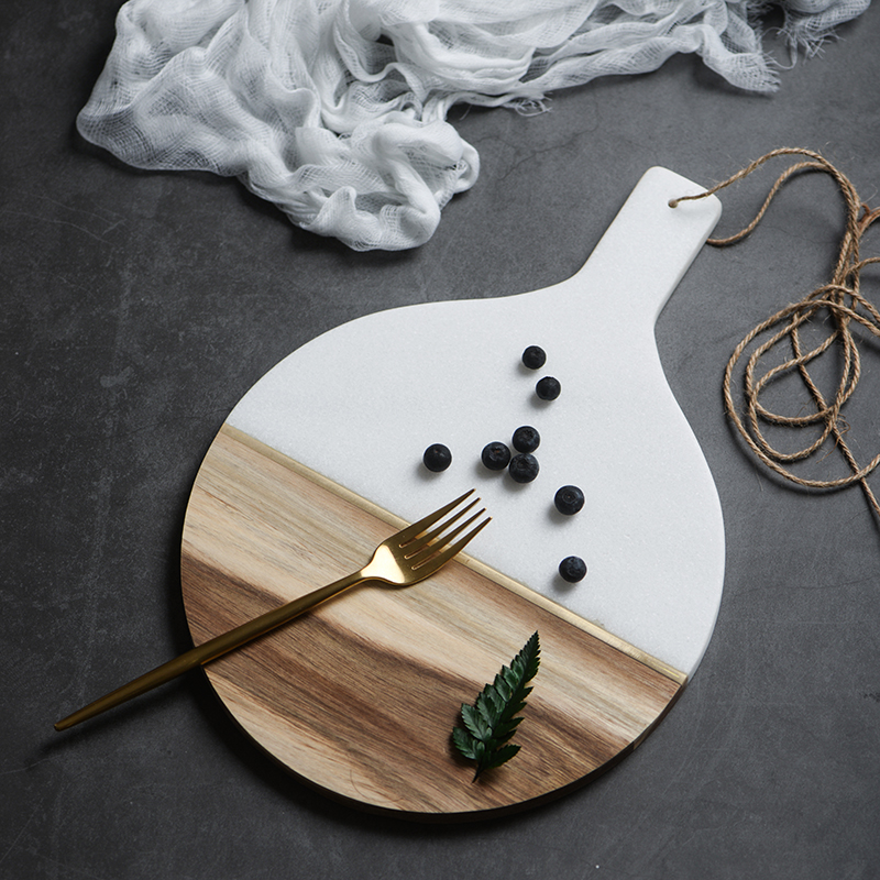 Marble & Wooden Tray 1