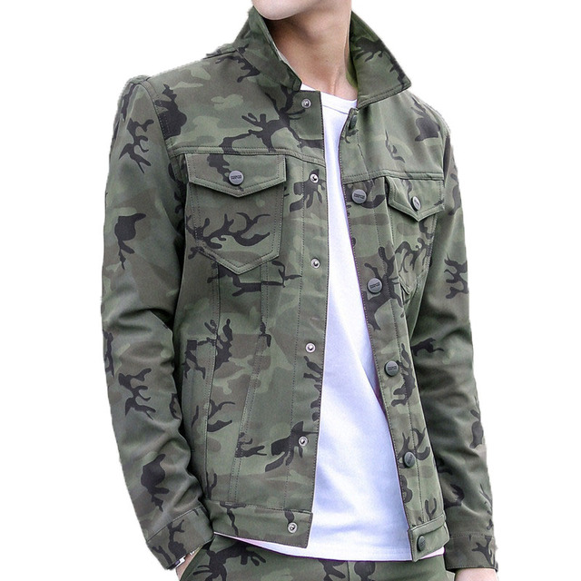 3f048215c0c New 2018 Jacket Men Casual slim Mens Army Military Jacket man Bomber Jacket  And Coats Plus Size M- 3XL male Camouflage Outwear