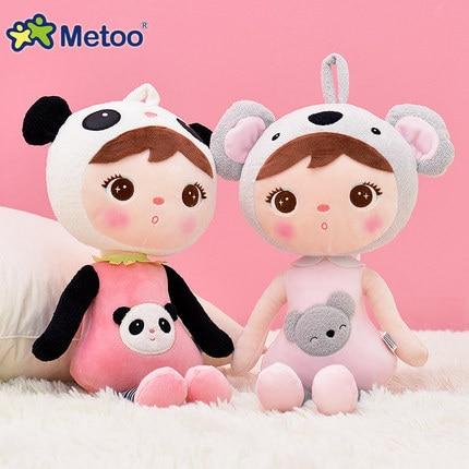 50cm New Genuine Metoo Cartoon Angela Plush Toys Keppel doll plush toy doll koala/deer/panda/candy doll for birthday gift 1pcs