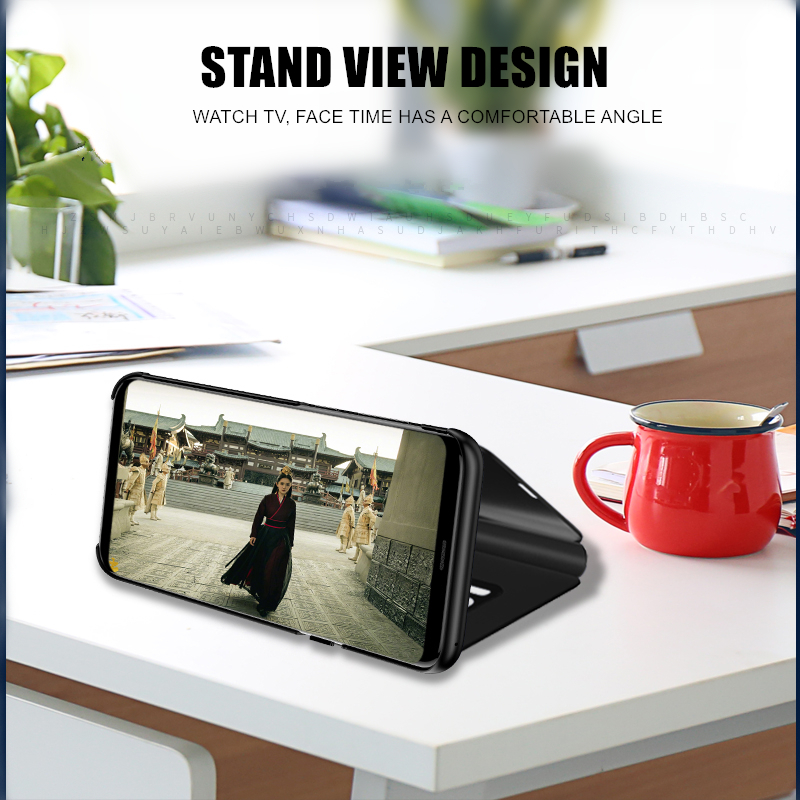 Image 2 - Smart Mirror Flip Phone Case For Xiaomi Redmi GO 5A Note 8 9T K20 6 6A 8A 5 4 4X 7 9 8 SE 7A CC9E A3 Lite Pro Cover Leather Case-in Fitted Cases from Cellphones & Telecommunications
