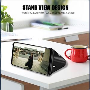 Image 2 - Умный зеркальный флип чехол для телефона Xiaomi Redmi GO 5A Note 8 9T K20 6 6A 8A 5 4 4X 7 9 8 SE 7A CC9E A3 Lite Pro, кожаный чехол