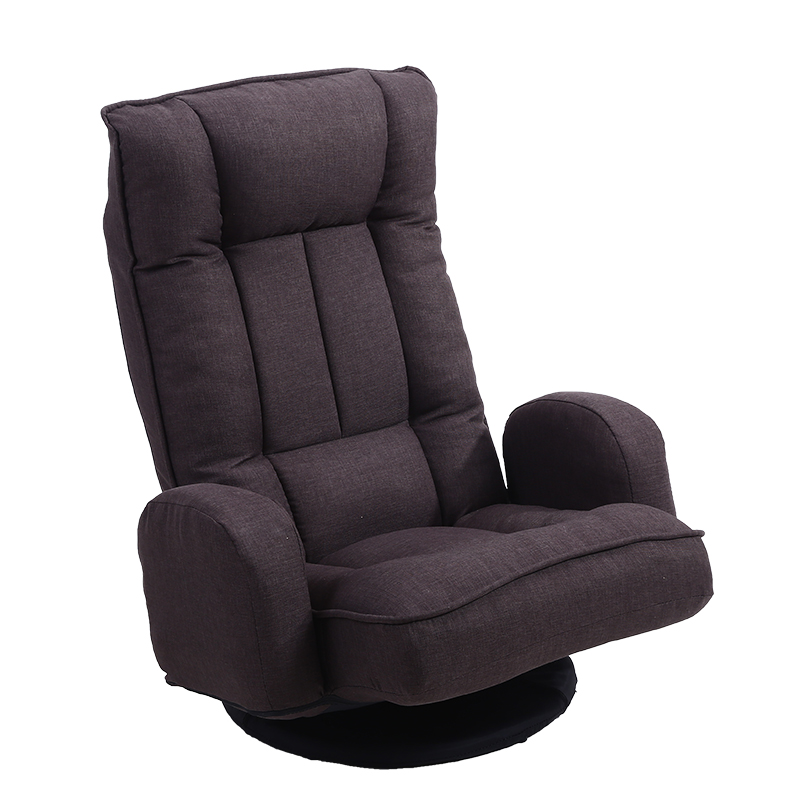 Living Room Chairs 360 Degree Swivel Folded Video Game Chair Floor Lazy Man Sofa Chair With Leather And Mesh Fabric Upholstery Armchair Living Room
