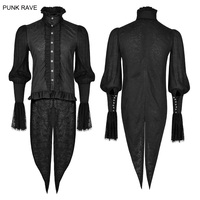 2018 Punk RAVE Gothic dovetail Shirt Vest Party Visual Kei Top Lace Sleeve Retro Brand Quality Y739