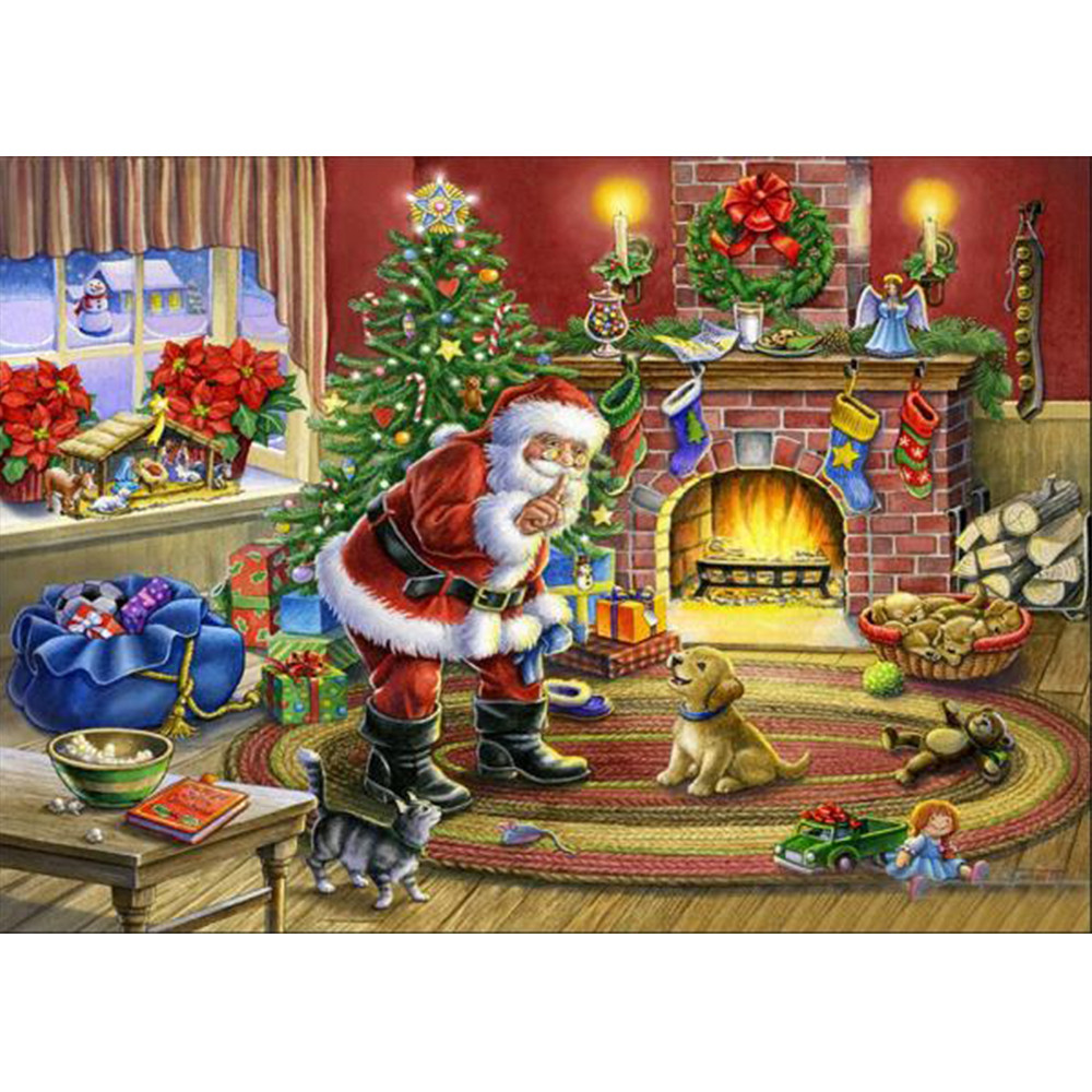merry christmas 5d landscape embroidery
