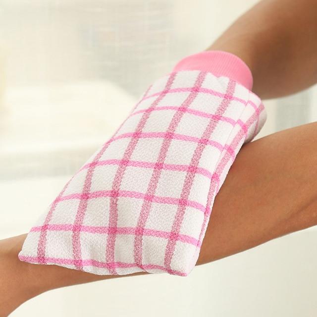 1 pz Bagno Esfoliante Guanti Doccia Lavare La Pelle Spa Massaggio Loofah Scrubbe