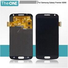 Для Samsung Galaxy Premier i9260 Черный/Белый Полный Новый ЖК-Дисплей Панель С Сенсорным Экраном Дигитайзер Стеклянный Объектив Замена Ассамблея