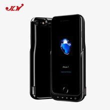 JLW 8000mAh Battery Charger Cases for iPhone 7 Plus Half Packs Style External Battery Backup Rechargeable Case for iPhone 7 Plus