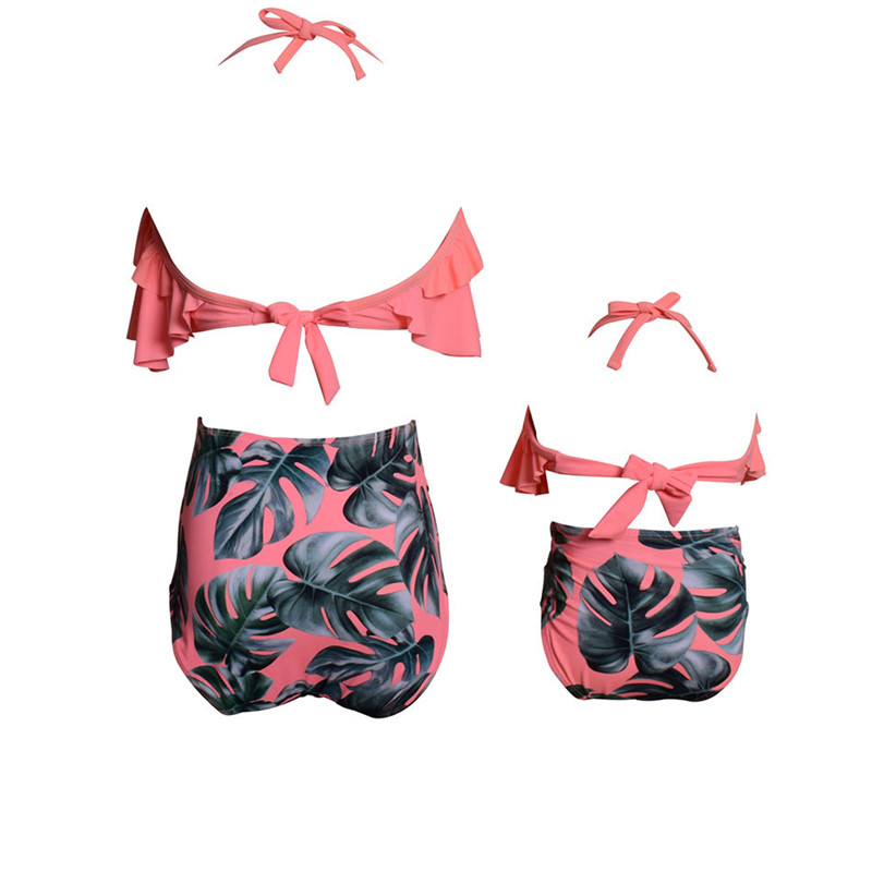 New Family Matching Swimwear Spa Mom Daughter Swimsuit Mother Daughter Bikini Bathing Suit Kids Swimwear Family Matching Outfits (8)