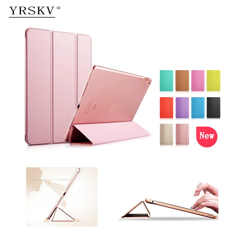 Case for iPad 2 iPad 3 iPad 4 YRSKV YiPPee Color PU Leather Slim Magnetic Front Smart Cover Skin + Hard PC Back Tablet Case case for ipad air 2 2014 yrskv senior silk smart cover ultra slim designer tablet pu leather cover tablet case for apple ipad