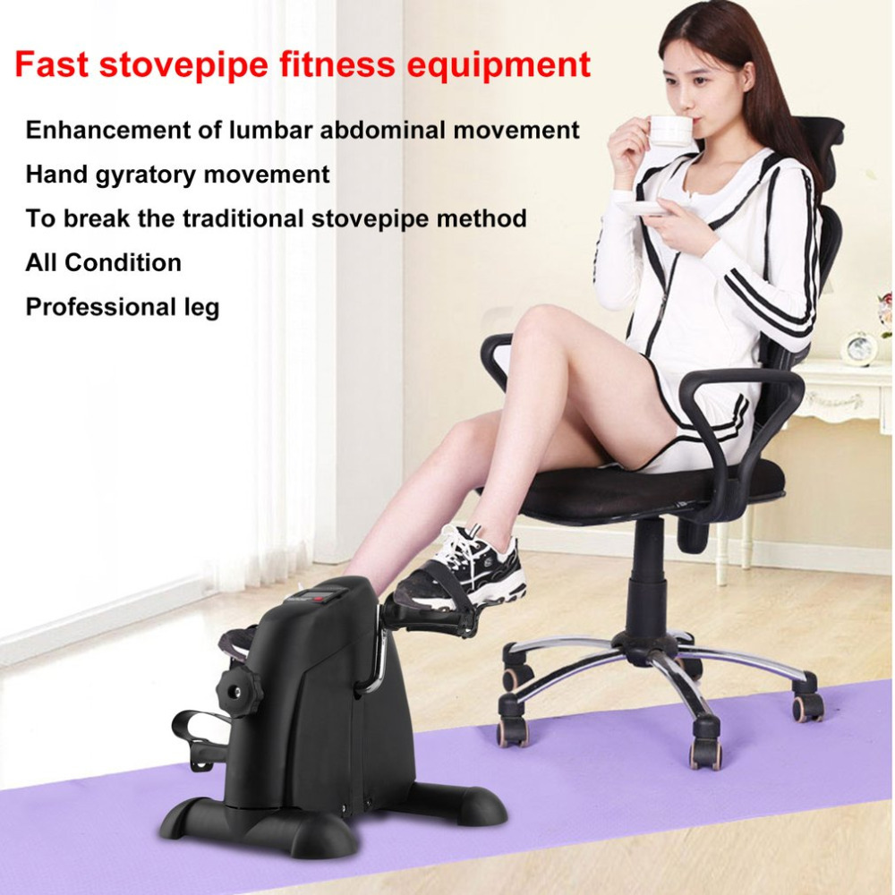 Adults Mini Pedal Exerciser Adjustable Knob Cycle Exercise Bike Indoor Fitness Equipment With Digital LCD Display free shipping stamina cps 9300 indoor cycle