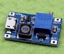1pcs DC-DC Adjustable Boost Module 2A Boost Plate Step Up Module with MICRO USB 2V-24V to 5V 9V 12V 28V MT3608 A52