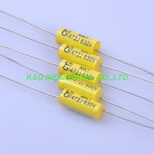 10pcs Tubular Poly Polyester Film Capacitor Axial 0.0047uf 473 630V for Guitar Amplifier