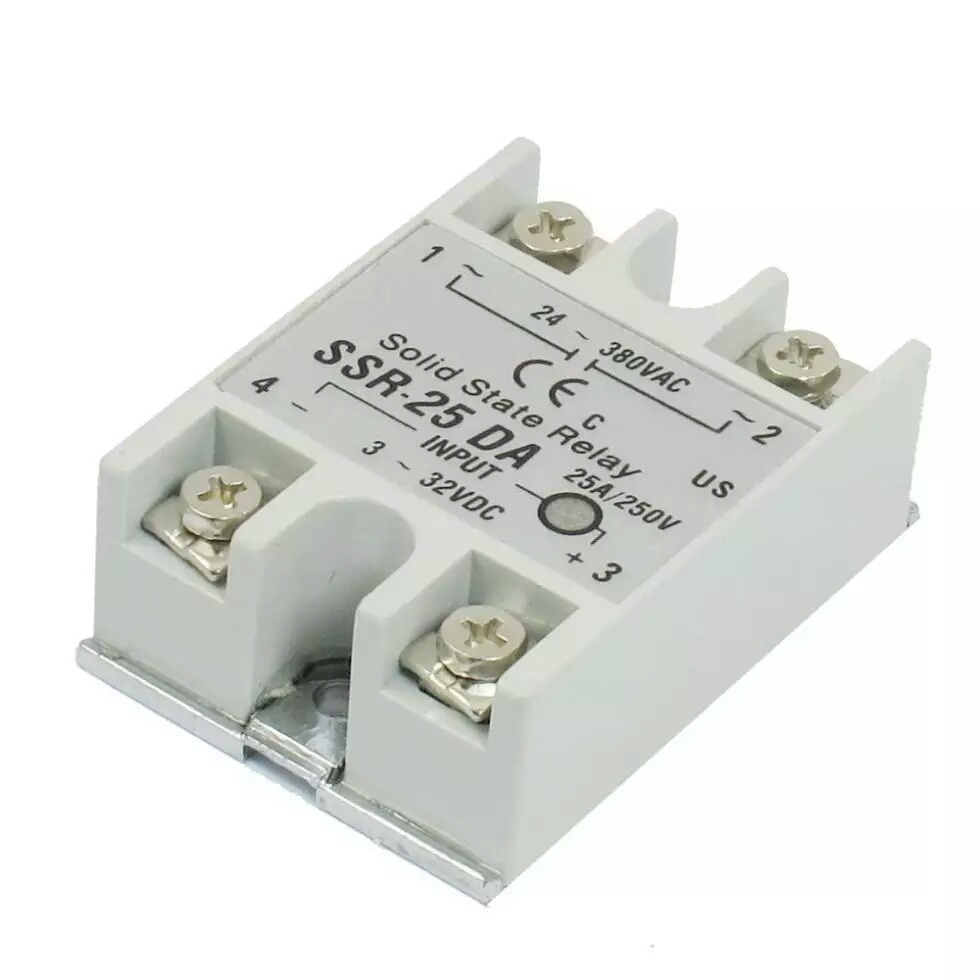 Temperature Control AC 24V-380V Output Solid State Relay 25A/xj normally open single phase solid state relay ssr mgr 1 d48120 120a control dc ac 24 480v