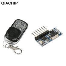 Qiachip 433mhz rf 원격 제어 송신기 및 433mhz rf 릴레이 수신기 스위치 모듈 무선 4 채널 출력 학습 버튼