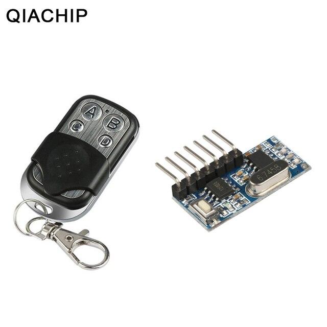 Qiachip RF 433 Mhz Điều Khiển Từ Xa Phát RF 433 Mhz Tiếp Thu Công Tắc Mô Đun Không Dây 4 CH Đầu Ra Học Tập nút