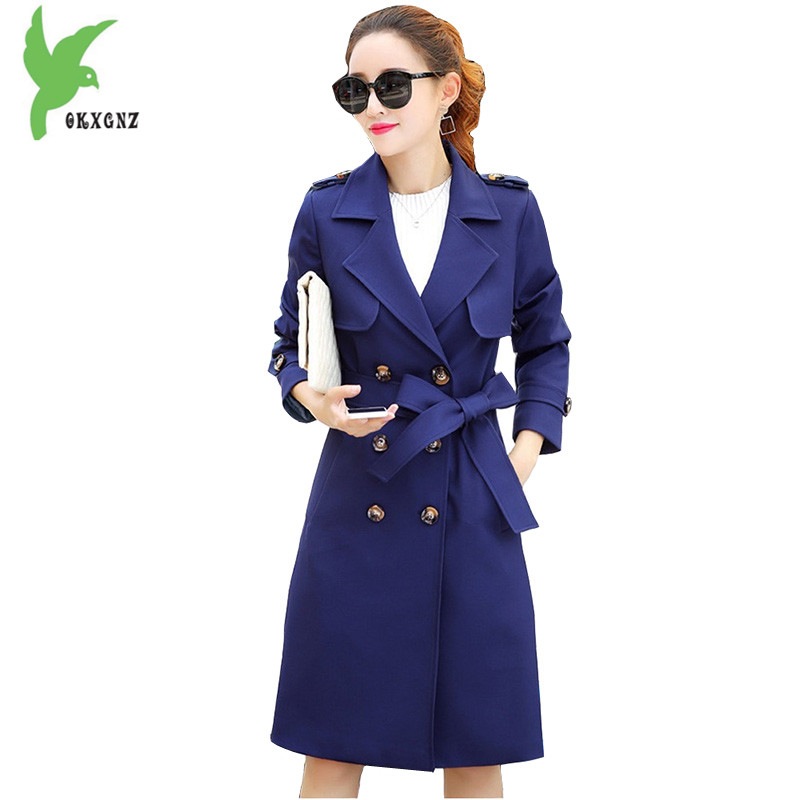 Trench Coat For Women 2018 Spring Fashion Long Coat Plus Size Long