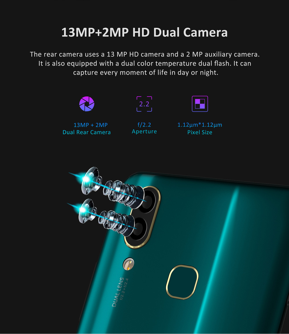 "HTB1wQYKXF67gK0jSZPfq6yhhFXaq LEAGOO S11 4GB 64GB Mobile Phone Android 9.0 6.3"" Waterdrop Display Helio P22 Octa Core 13MP Dual Camera Fingerprint Smartphone"
