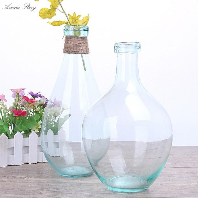 Modern European Style Blue Blowing Flower Pots Planters Creative