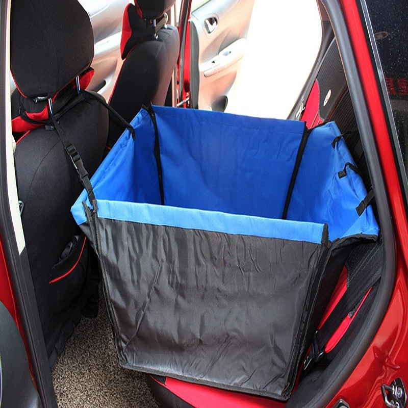 Pet Rear Back Seat Cover Mat Wide Bench Waterproof Cars Hammock Cushion Protector Apply for Most Cars Built In Safe Belt 4 Color