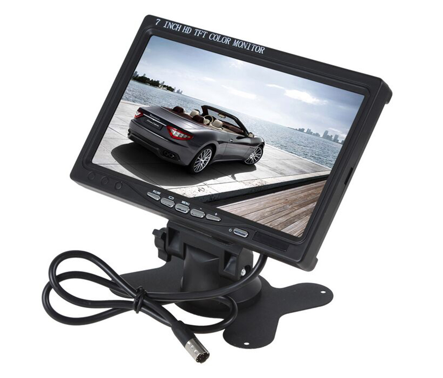 HD 800 x 480 Car Monitor 7 Inch Color TFT LCD Car Rearview Monitor Rear View Reverse Monitor with HDMI + VGA Interface RVC-214