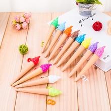 12 цветов гелевая ручка для мороженого белая ручка синий коричневый розовый красный зеленый желтый фиолетовый цвет Z8009-12PC