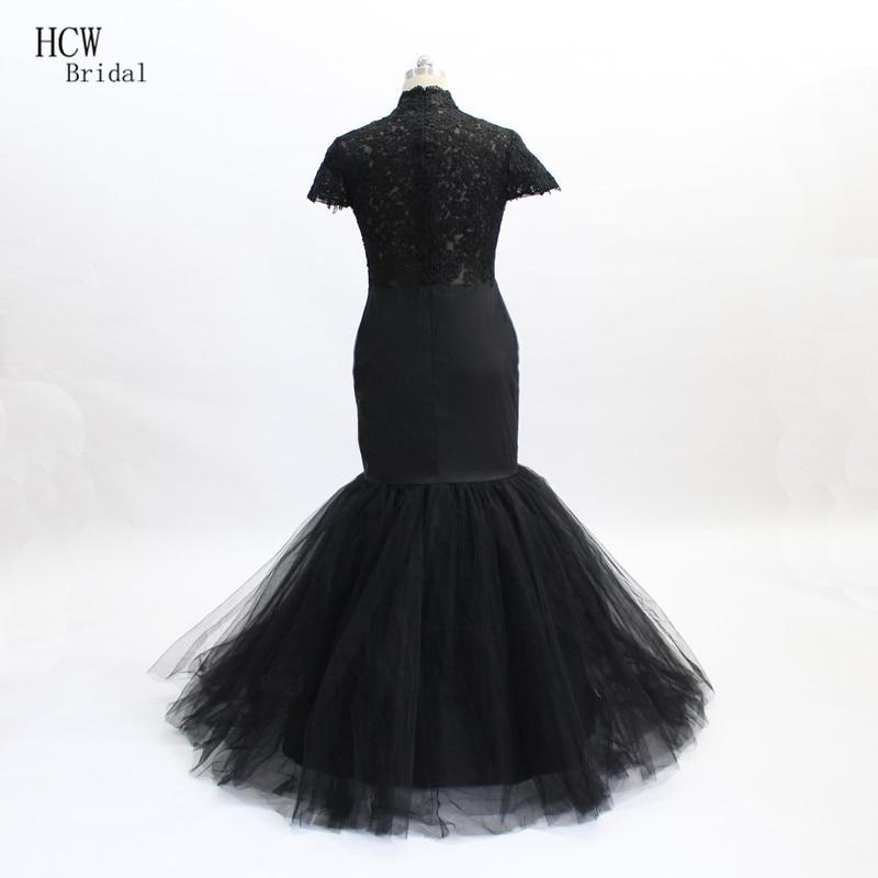 Aliexpress.com : Buy Black Mermaid Prom Dresses High Neck Short ...