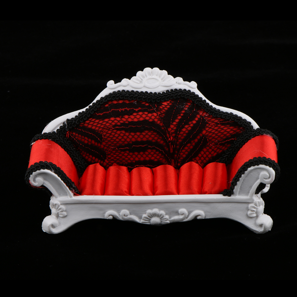Stylish Red Sofa Lounge Chair Couch Ring Jewelry Display Stand Holder Rack Wedding Gift Room