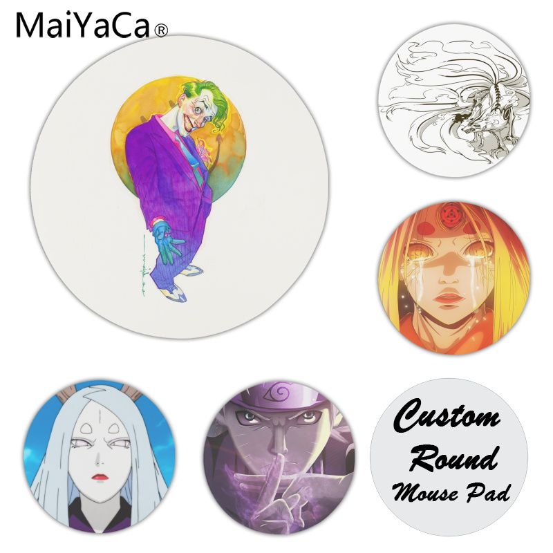 MaiYaCa Naruto Customized laptop Gaming mouse pad Size for 20x20CM Speed Version Round Mousepads ...