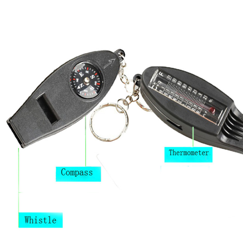 Fishsunday Versatile 4IN1 Compass Thermometer Whistle Magnifier Very Useful, Stop Waiting !!!! July10