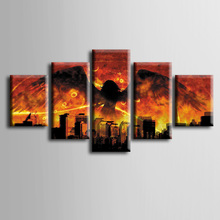 Wholesale 5 pieces Framed Canvas Print Modern Abstract movie poster series Painting Home Decoration Free shipping