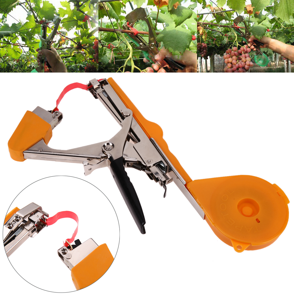 Plant Tying Tapetool Tapener Machine Branch Hand Tying Machine Garden Tool Tapetool Tapener Packing Stem Strapping Binding Tools shceppach garden tapetool sets fruit vegetable branches binder non waste taping machine garden tapener tool stem strapping tying