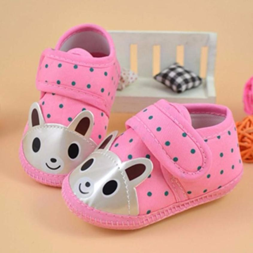 Fashion First Walkers Kids Casual Shoes Newborn Girl Boy Soft Sole Crib Toddler Baby Pink Blue Shoes Canvas Sneaker